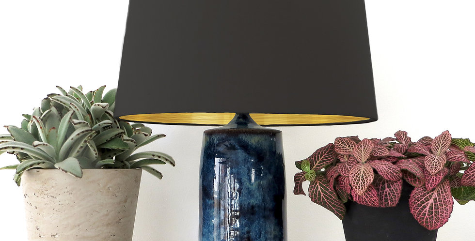 Conical Lampshade (30Tx35Bx30H) - Brushed Gold Lining