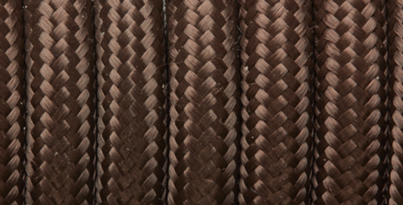 Brown - Industville Round Fabric Cable