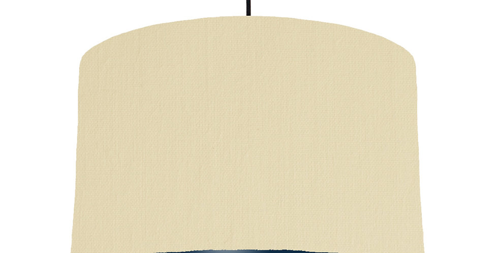 Natural & Navy Lampshade - 40cm Wide