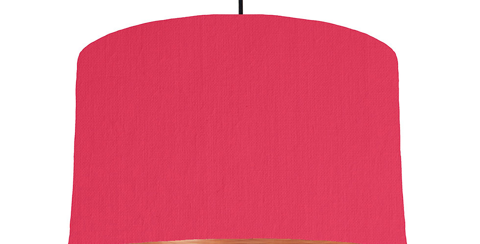 Cerise & Brushed Copper Lampshade - 40cm Wide