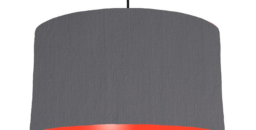 Dark Grey & Poppy Red Lampshade - 50cm Wide