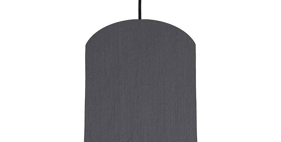 Dark Grey & Black Lampshade - 20cm Wide