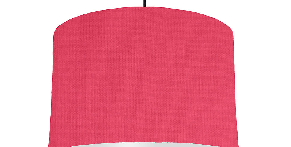 Cerise & Light Grey Lampshade - 30cm Wide