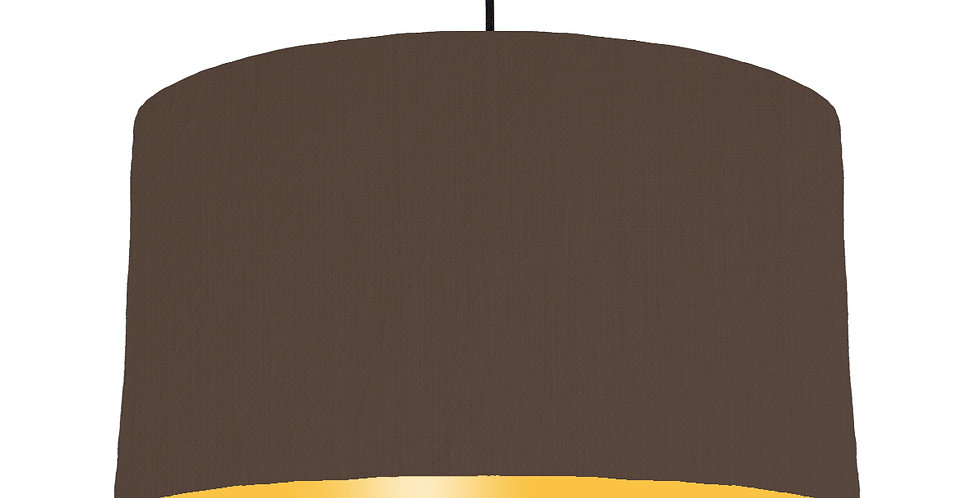 Brown & Butter Yellow Lampshade - 50cm Wide