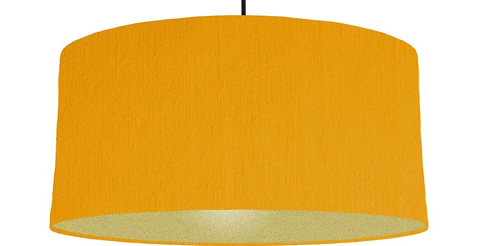 Mustard & Gold Matt Lampshade - 60cm Wide