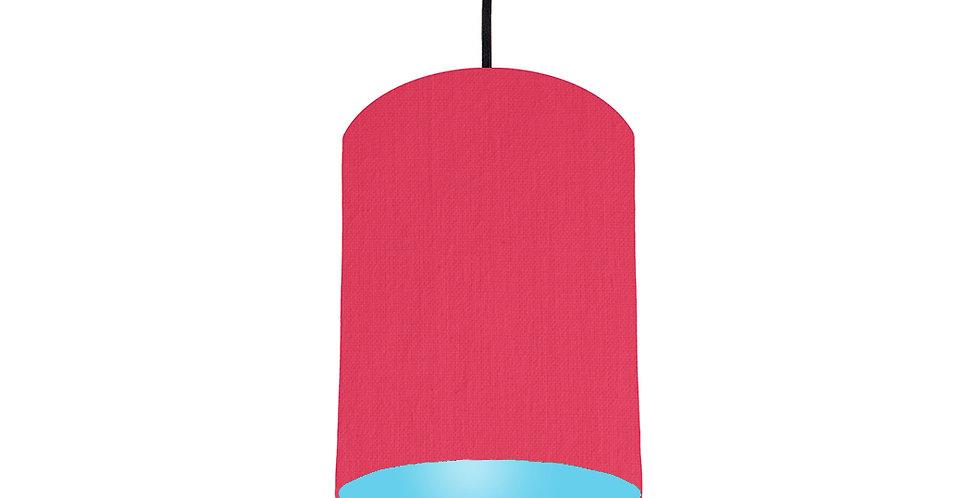 Cerise & Light Blue Lampshade - 15cm Wide