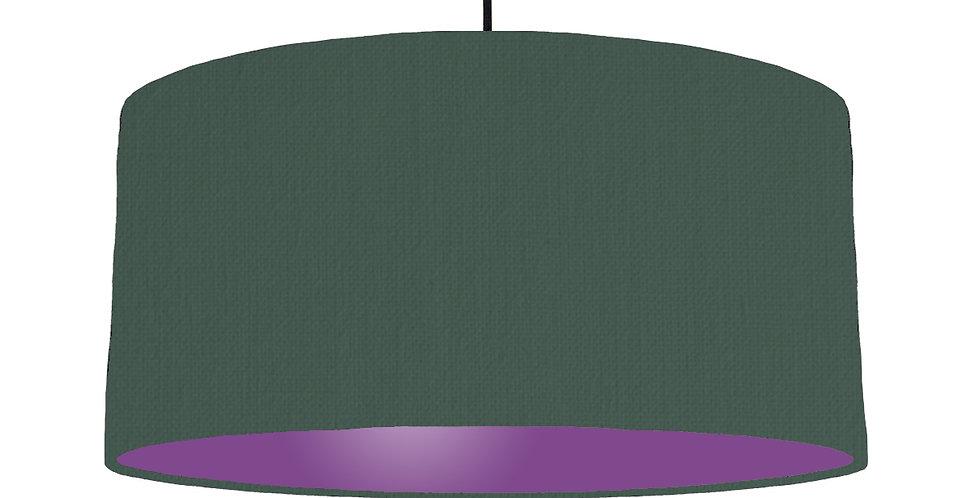 Bottle Green & Purple Lampshade - 60cm Wide