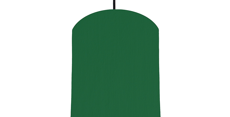Bottle Green & White Lampshade - 20cm Wide
