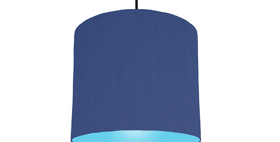 Royal Blue & Light Blue Lampshade - 25cm Wide