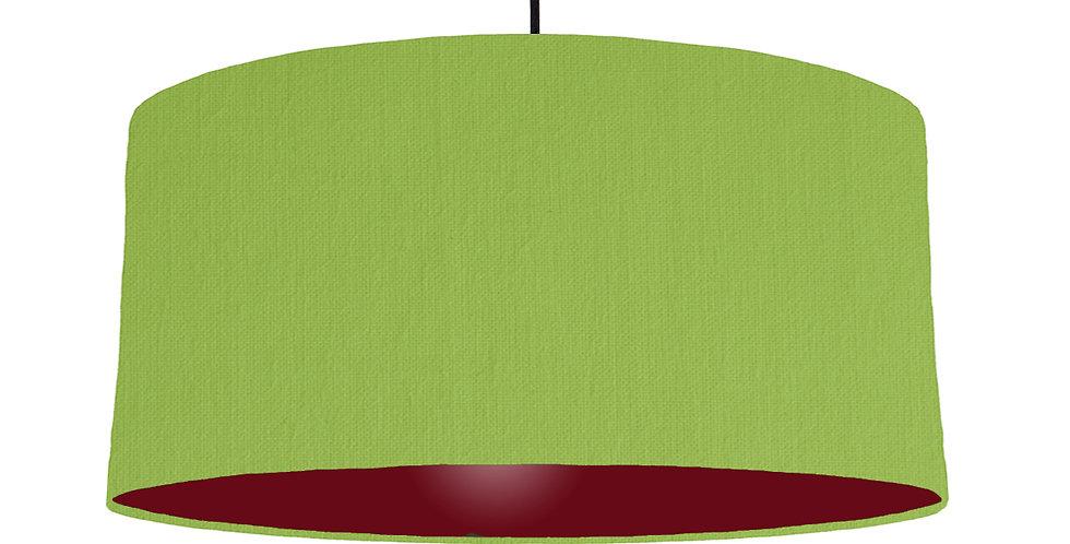 Pistachio & Burgundy Lampshade - 60cm Wide