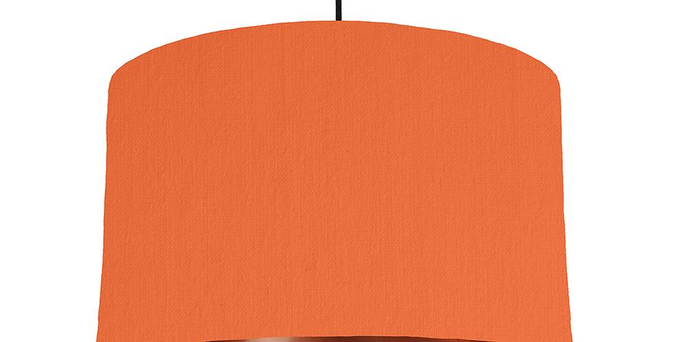 Orange & Copper Mirrored Lampshade - 40cm Wide