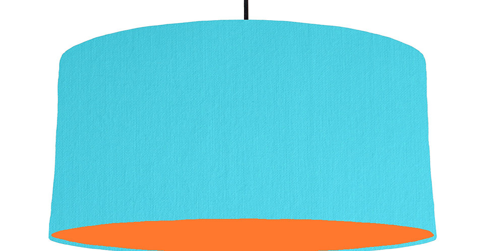 Turquoise & Orange Lampshade - 60cm Wide