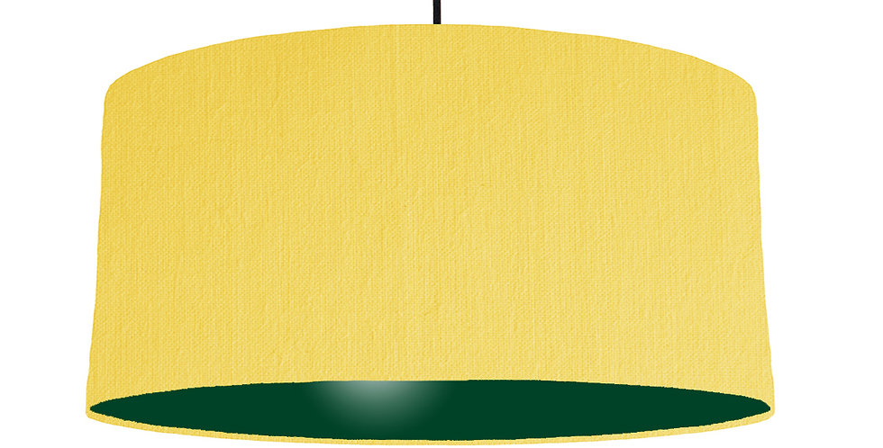 Lemon & Forest Green Lampshade - 60cm Wide
