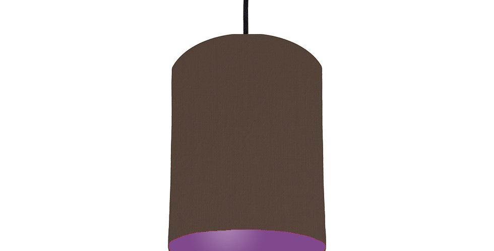 Brown & Purple Lampshade - 15cm Wide
