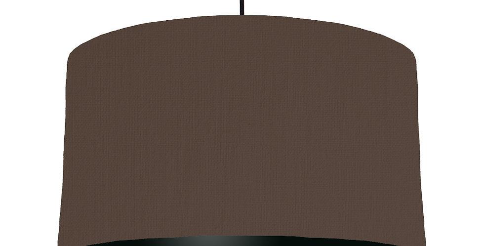 Brown & Black Lampshade - 50cm Wide