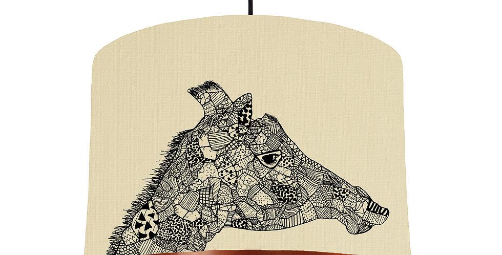 Giraffe Shade - Copper Mirrored Inside Lining