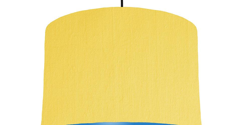 Lemon & Bright Blue Lampshade - 30cm Wide