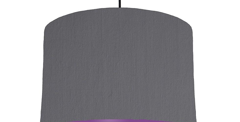 Dark Grey & Purple Lampshade - 30cm Wide