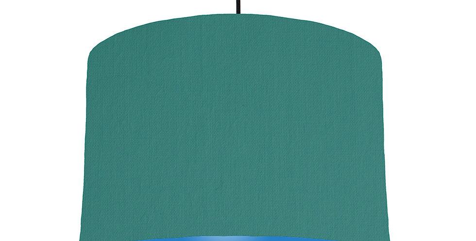 Jade & Bright Blue Lampshade - 30cm Wide