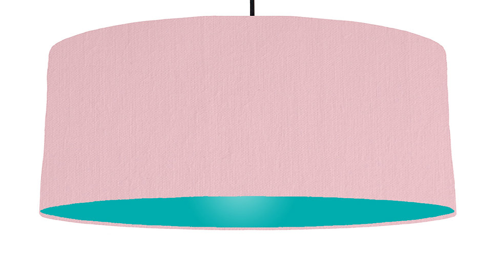 Pink & Turquoise Lampshade - 70cm Wide