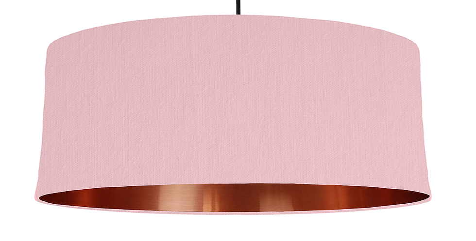 Pink & Copper Mirrored Lampshade - 70cm Wide