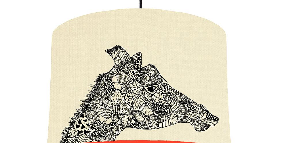 Giraffe - Natural & Poppy Red