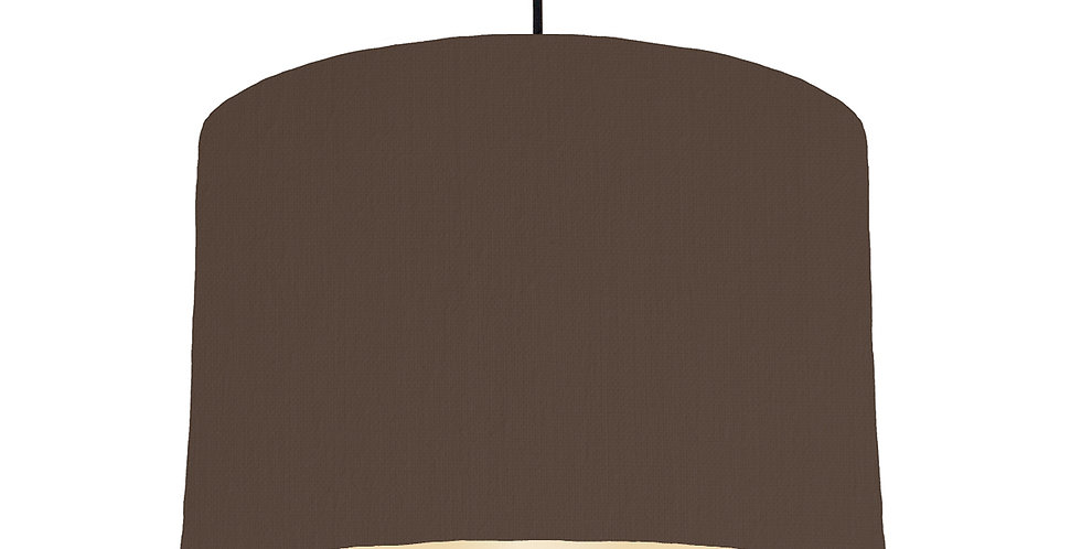 Brown & Ivory Lampshade - 30cm Wide