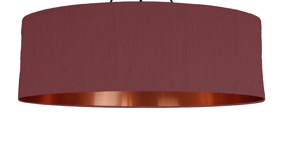 Wine Red & Copper Mirrored Lampshade - 100cm Wide