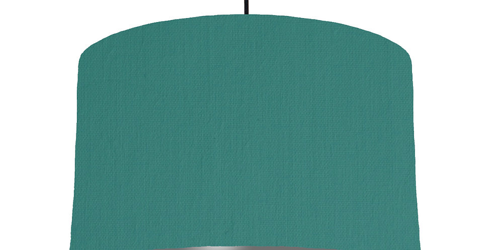 Jade & Dark Grey Lampshade - 40cm Wide