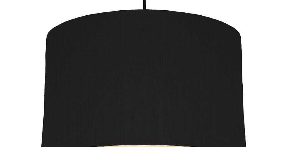 Black & Ivory Lampshade - 40cm Wide