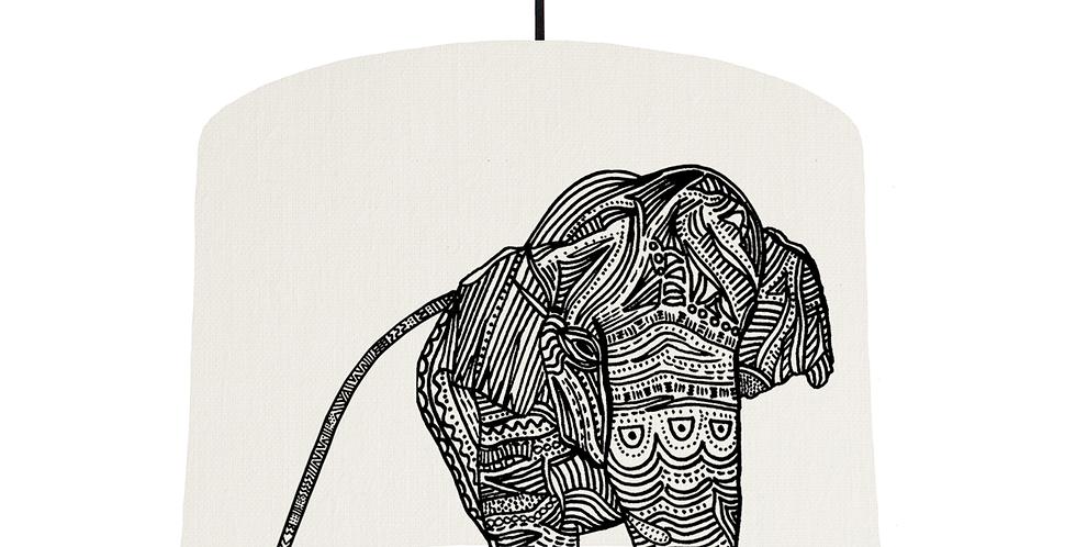 Elephant - White Fabric