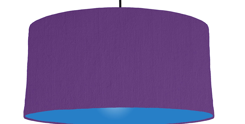 Violet & Bright Blue Lampshade - 60cm Wide