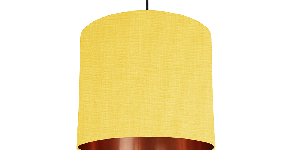 Lemon & Copper Mirrored Lampshade - 25cm Wide