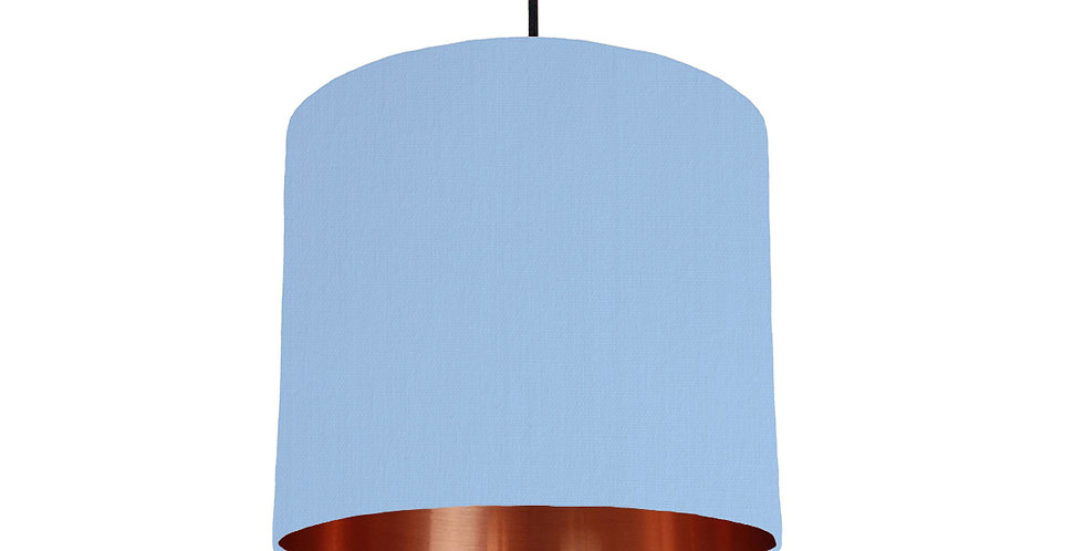 Sky Blue & Copper Mirrored Lampshade - 25cm Wide