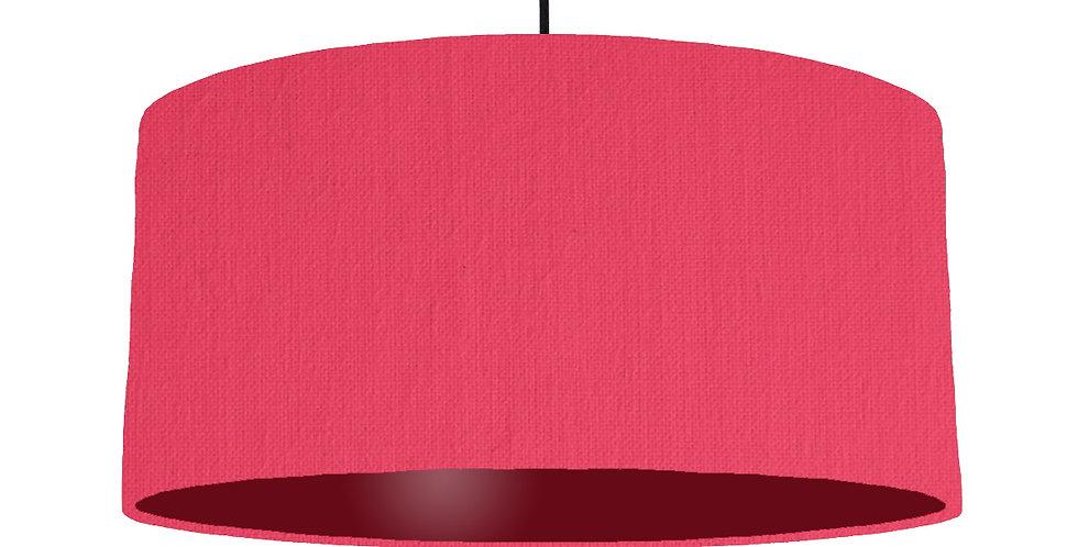 Cerise & Burgundy Lampshade - 60cm Wide