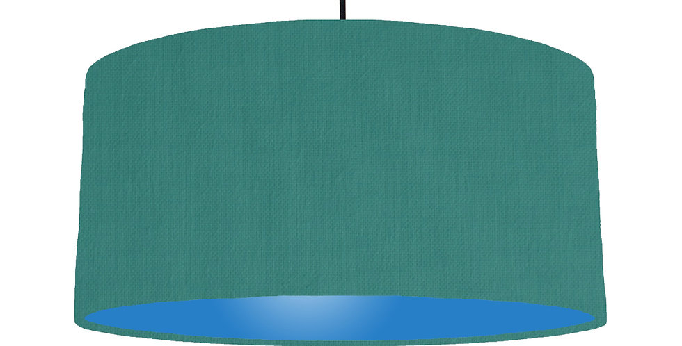 Jade & Bright Blue Lampshade - 60cm Wide