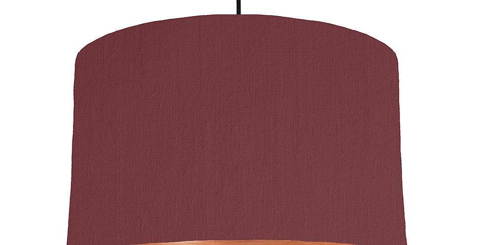 Wine Red & Brushed Copper Lampshade - 40cm Wide