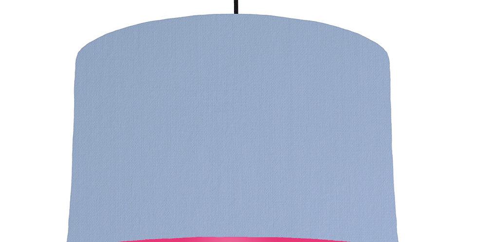 Sky Blue & Magenta Lampshade - 40cm Wide
