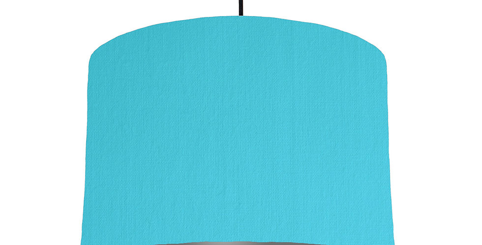 Turquoise & Dark Grey Lampshade - 30cm Wide