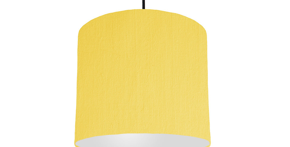 Lemon & Light Grey Lampshade - 25cm Wide