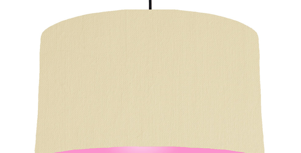 Natural & Pink Lampshade - 50cm Wide