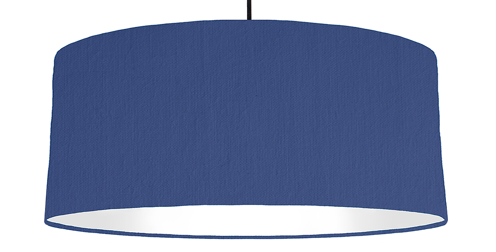 Royal Blue & White Lampshade - 70cm Wide