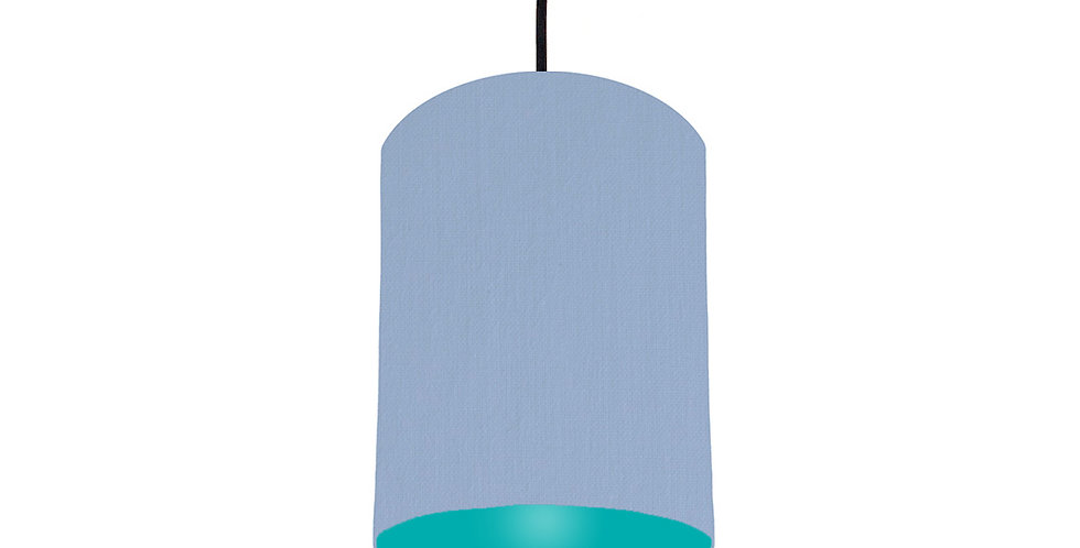 Sky Blue & Turquoise Lampshade - 15cm Wide
