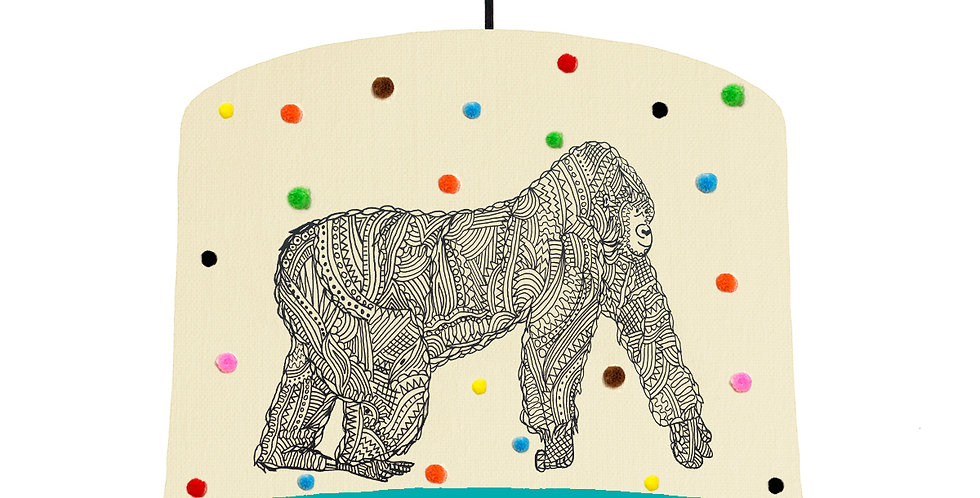 George The Gorilla Pom Pom Lampshade - Choose From 19 Lining Colours