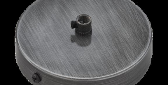 Industville Sleek Ceiling Rose - 1 Outlet - Pewter