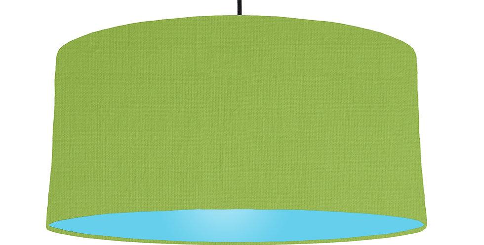 Pistachio & Light Blue Lampshade - 60cm Wide