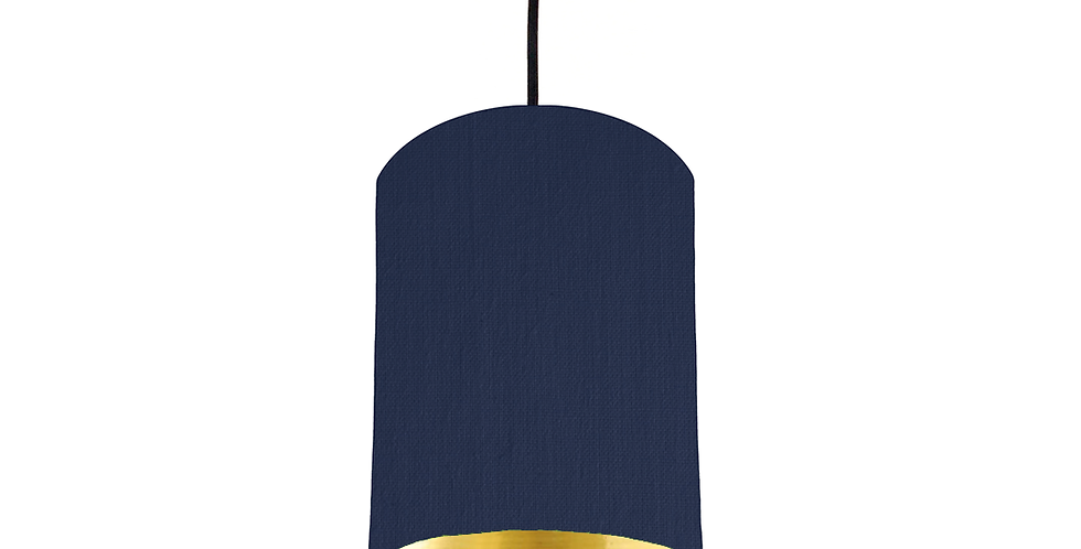 Navy & Gold Mirrored Lampshade - 15cm Wide