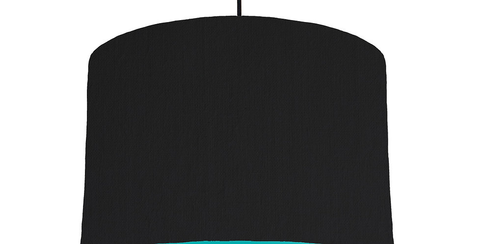 Black & Turquoise Lampshade - 30cm Wide