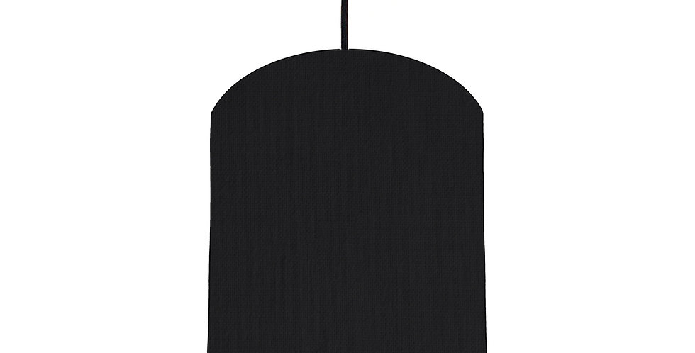 Black & Light Grey Lampshade - 20cm Wide