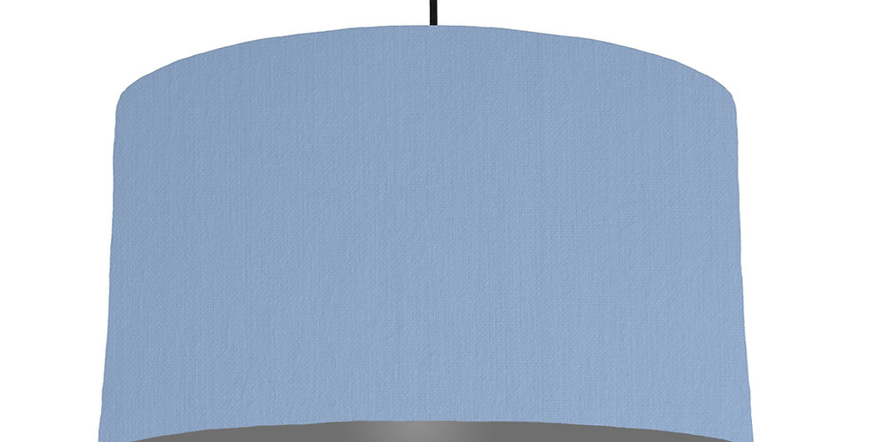 Sky Blue & Dark Grey Lampshade - 50cm Wide